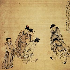 Chinese Men Playing Cuju (Ancient Soccer) - Health and Fitness History