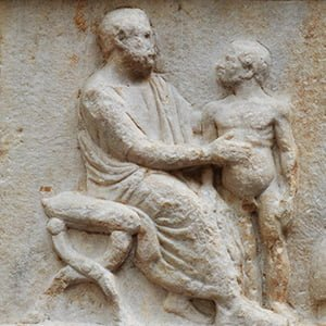 Greek Doctor and Patient - Health and Fitness History