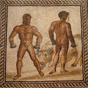 Roman mosaic of boxers – Health and Fitness History