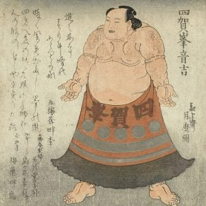 1819 Japanese sumo wrestler painting – Health and Fitness History