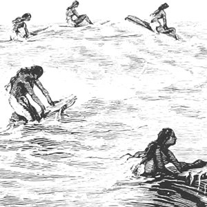 Captain Cook Hawaiian Surfing Illustration – Health and Fitness History