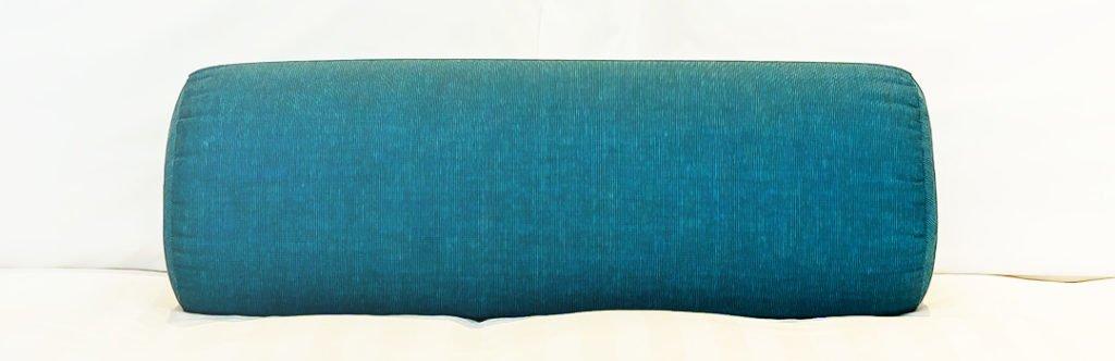 blue neck roll pillow