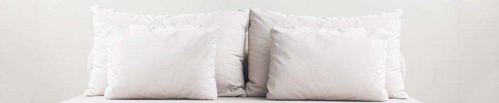 white feather pillows