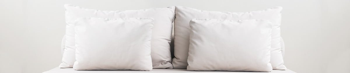 white feather pillows